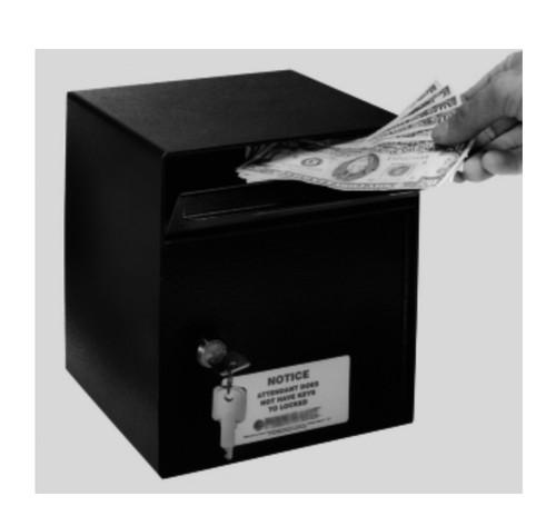 Indoor Payment Drop for cash checks or keys