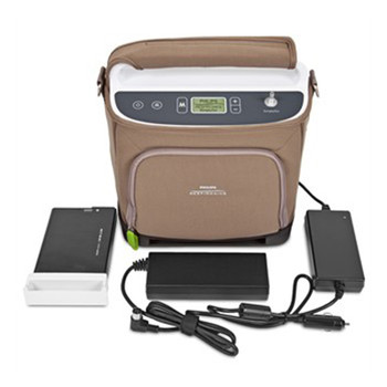 SimplyGo on the Go Bundle (SimplyGo Portable Oxygen Concentrator, Desktop Battery Charger & 2 Lithium Ion Batteries)