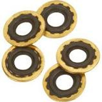 Brass Washers with Rubber Ring for Oxygen Regulators - 25 Pack