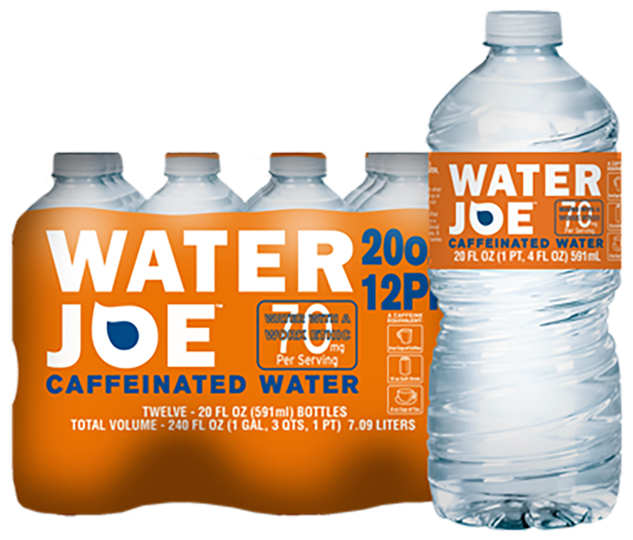 """An evolution of the """"energy drink."""" Water Joe is water with a shot of caffeine that is tasteless, odorless, and extracted from coffee beans. This is a sugar-free, calorie-free carb-free, chemical-free alternative."""