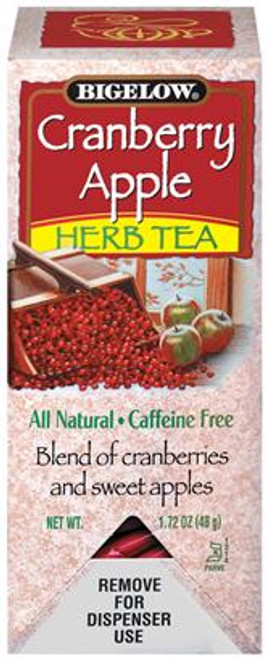 Cranberry Apple Herb Tea is a natural beverage. It contains no artificial coloring or preservatives and it has no caffeine.