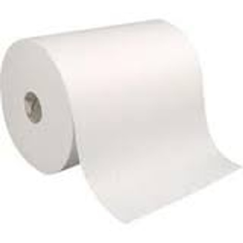Soft and strong paper towels that are absorbent and provide effective hand-drying with less paper waste.