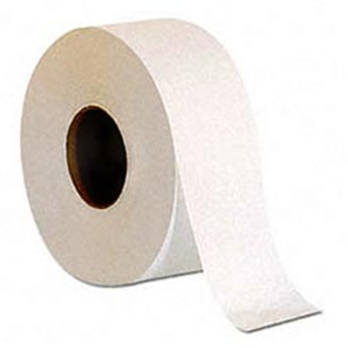 """Affordable choice for high-traffic areas. White, nonperforated. 9"""" roll diameter. Length: 1000 ft. Rolls: 12"""