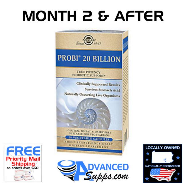 PROBI 20 BILLION: Months 2 & After Dosage