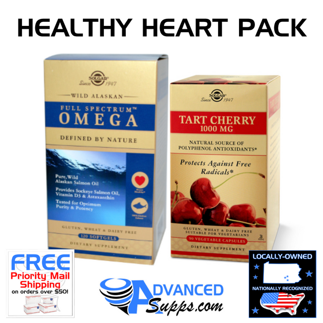 FULL SPECTRUM OMEGA & TART CHERRY: Healthy Heart Pack