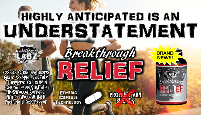 NOW AVAILABLE! The revolutionary ibuprofen replacement – Breakthrough Labz releases a shocking new joint formula