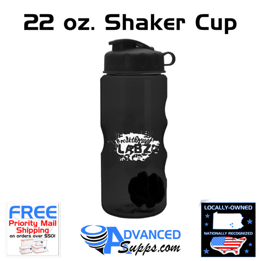 22 oz. Shaker Cup by Breakthrough Labz (with Blender Ball)