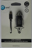 Onn 3' Foot Car Charger With Attached 3ft Lightning Cable