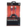 Blackweb 5' Foot Flexible Steel Metal Micro USB Sync Charge Cable Chameleon