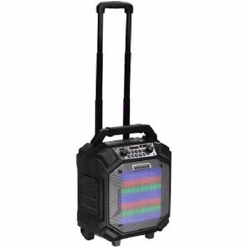 BlackWeb BWA17AA006 Bluetooth Party Speaker with Microphone and LED Lights, Black