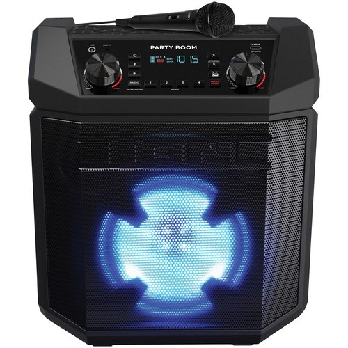 Ion Audio IPA101 Party Boom Bluetooth Audio System Speaker with Mic