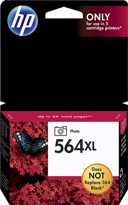 Genuine HP 564XL High-Yield Photo Black Ink Cartridge CB322WN