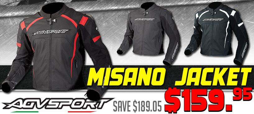 Save $189 on the AGV Sport Misano Leather Jacket