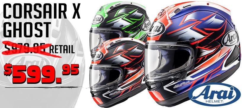 Save $380 on the Arai Corsair-X Ghost Helmet