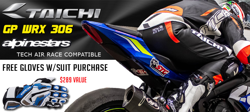 Free Gloves w/Select RS Taichi Race Suits