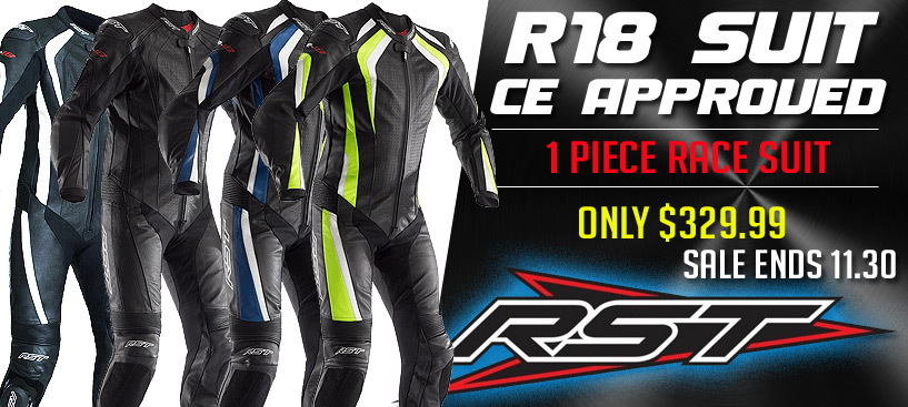RST R-18 CE One Piece Leather Race Suit Only $329 @ STG