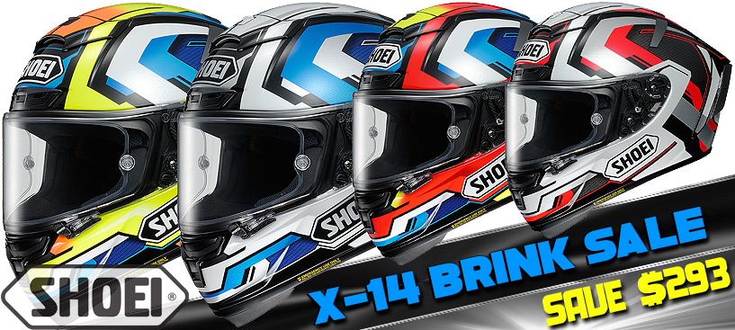 Shoei X-Fourteen Brink Helmet Only $566 @ STG