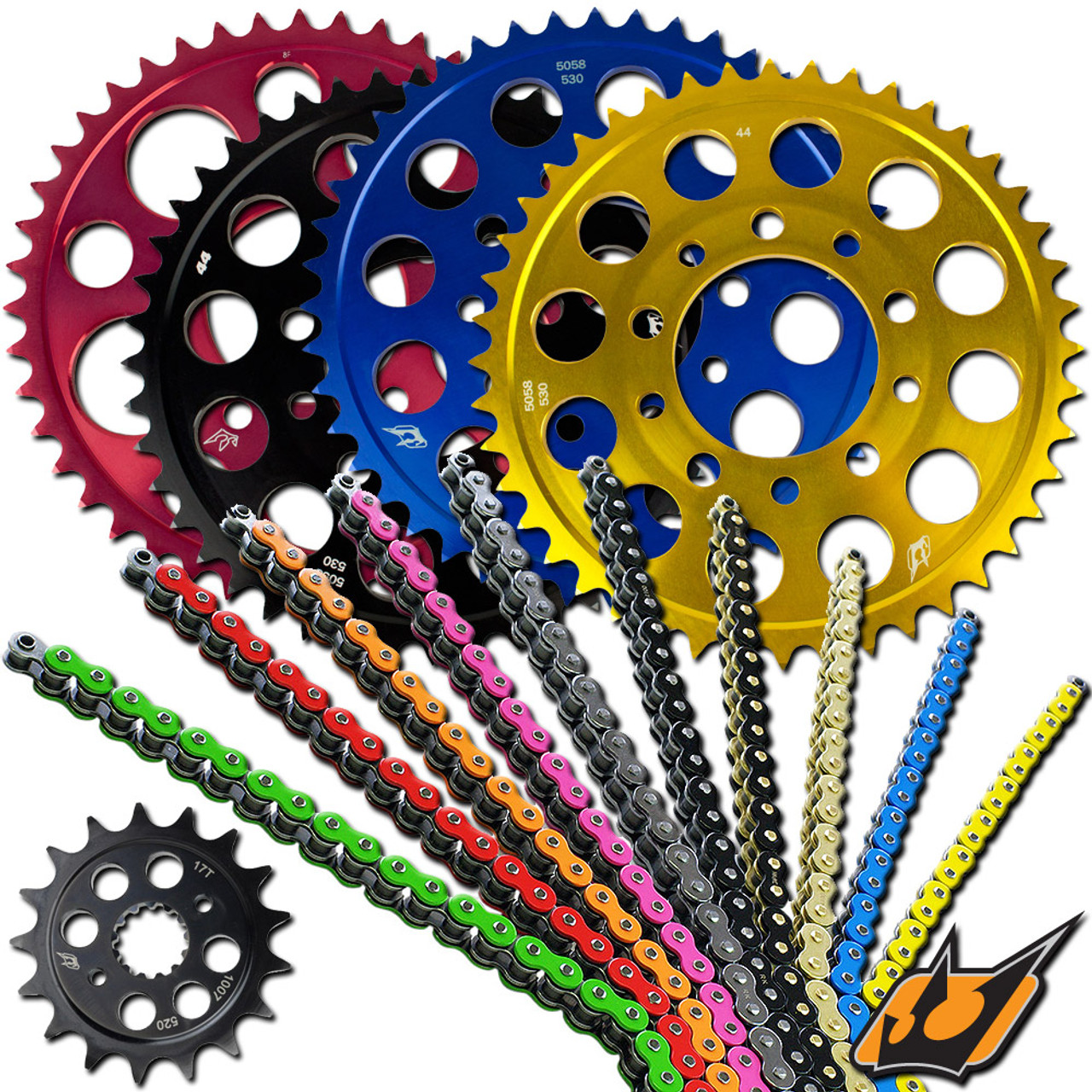 driven suzuki gsxr 1000 2017 2018 520 chain and sprocket kit rh sportbiketrackgear com