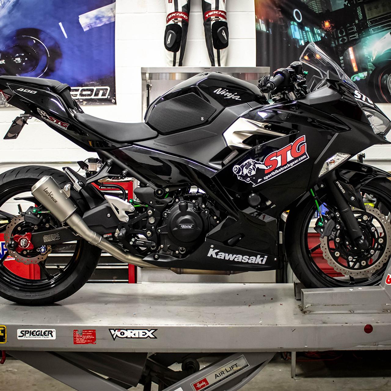 Leo Vince Kawasaki Ninja 400 2018 Lv 10 Slip On Exhaust Stainless