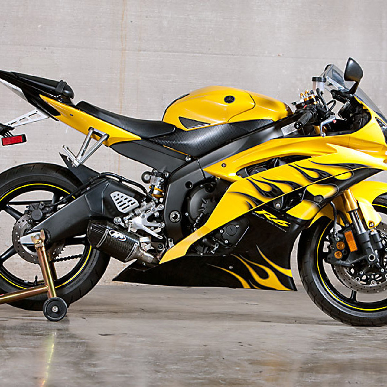 M4 yamaha r6 2006 2018 street slayer carbon slip on exhaust for Best exhaust system for yamaha r6
