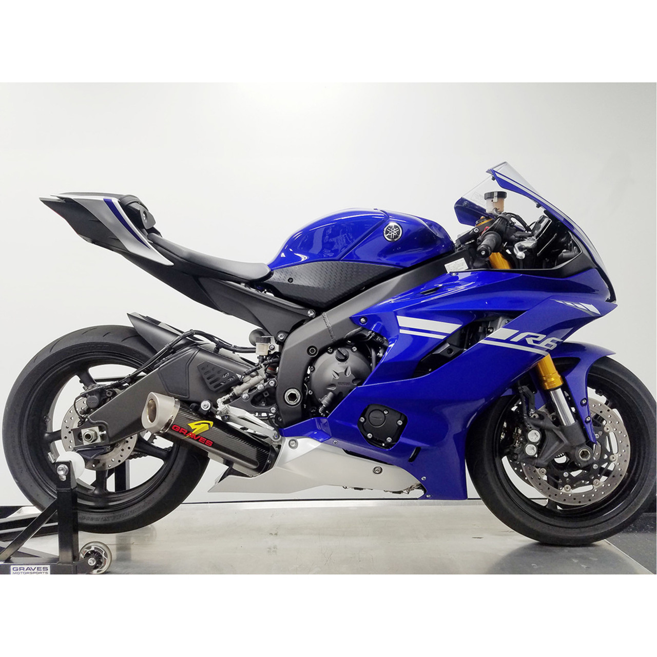 2006 2018 yamaha r6 graves motorsports works 7 carbon full for Best exhaust system for yamaha r6