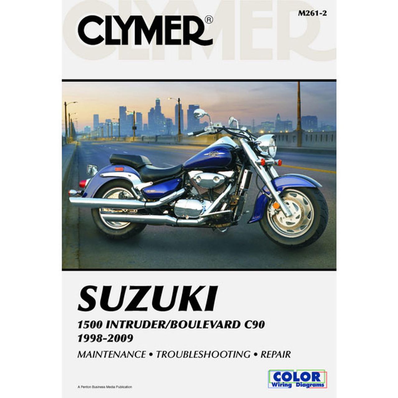 clymer suzuki 1500 intruder boulevard c90 98 09 service manual rh sportbiketrackgear com 93 Intruder 800 Suzuki Intruder 900