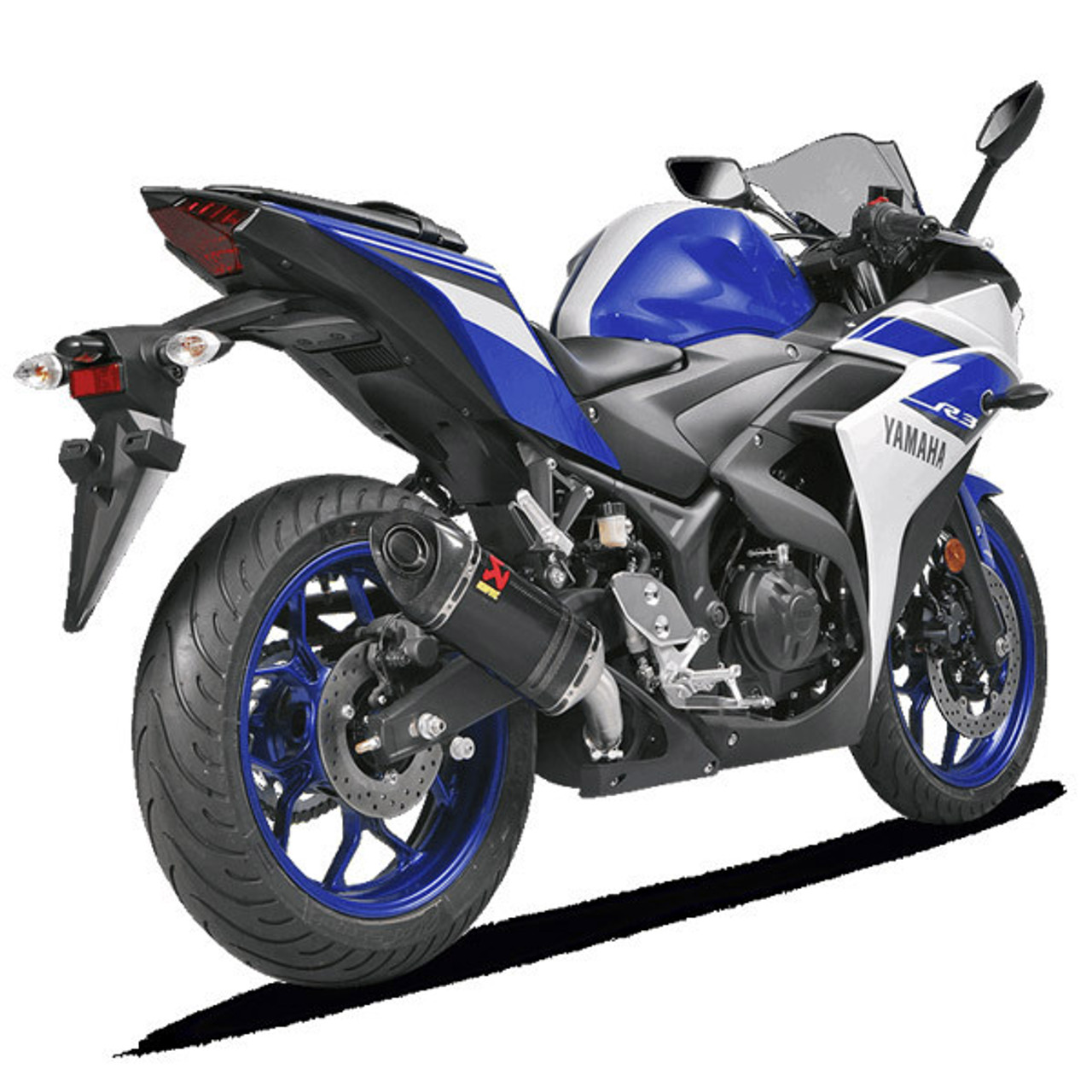 Akrapovic Yamaha YZF R3 15 18 Carbon Slip On Exhaust
