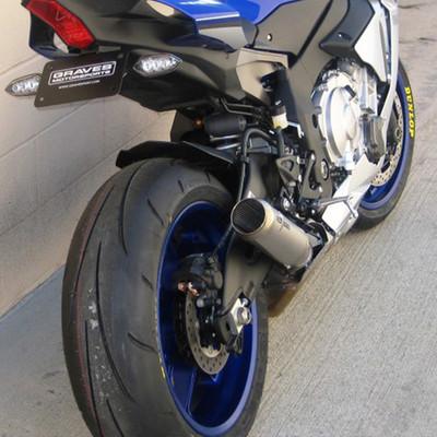 Graves Motorsports Yamaha YZF R1 15 18 Moto1 Cat Back Slip On Exhaust
