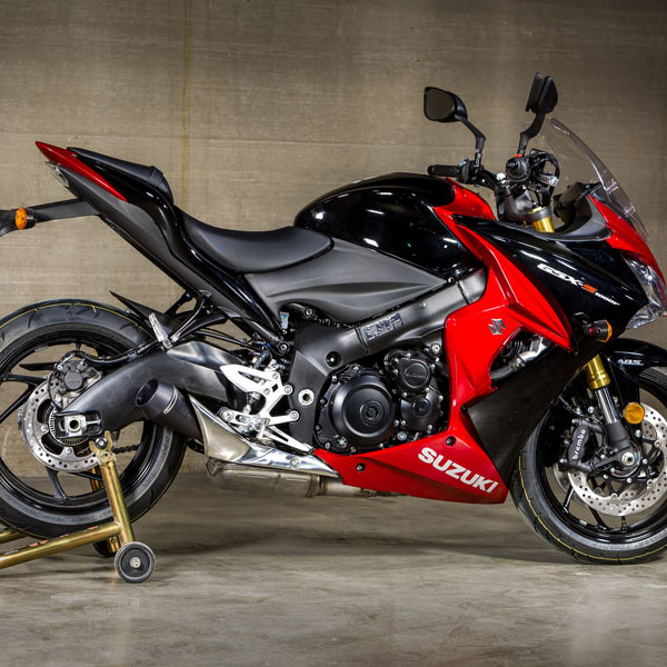 m4 exhaust suzuki gsx s1000 f 2016 gp mount slip on exhaust. Black Bedroom Furniture Sets. Home Design Ideas