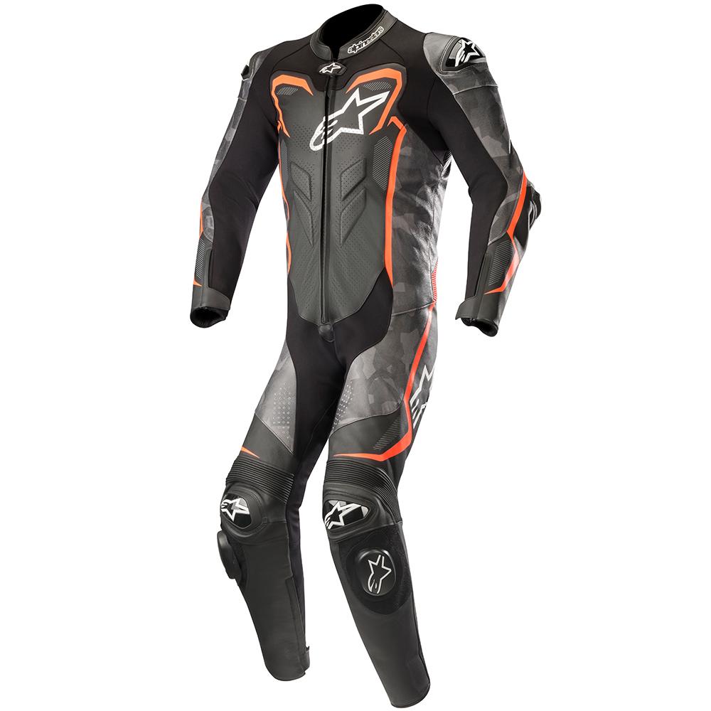 Alpinestars GP Plus Camo One Piece Leather Race Suit Black/Red