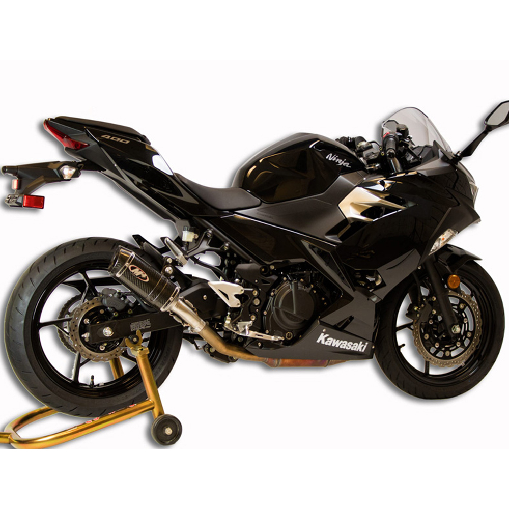 M4 Kawasaki Ninja 400 2018 Carbon Slip On Exhaust