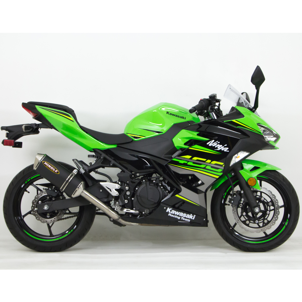 hindle kawasaki ninja 400 2018 evo full exhaust system. Black Bedroom Furniture Sets. Home Design Ideas
