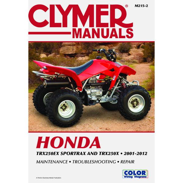 clymer honda trx250ex trx250x 01 12 service manual sportbike rh sportbiketrackgear com 1987 honda trx250x service manual pdf 1987 honda trx250x service manual