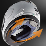 Arai Corsair X Spencer 40th Chin Curtain