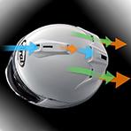 Arai DT-X Edwards Legend Dual Flow Ventilation System