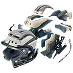 Shoei GT-Air Solid Helmet 3D Max-Dry Interior System