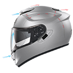 Shoei GT-Air Solid Helmet Ventilation