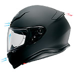 Shoei RF-1200 Ruts Helmet Ventilation