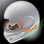 Arai Defiant-X Outline Helmet Mouth Vent and Eye-Port Ventilation
