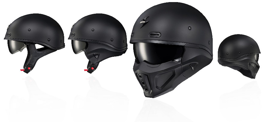 Scorpion Covert-X Helmet 3-in-1 Helmet Design