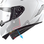 Shoei X-14 Rainey Helmet Quick Release Cheek Pad System
