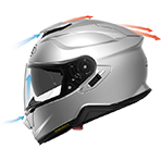 Shoei GT-Air II Solid Helmet Ventilation Performance