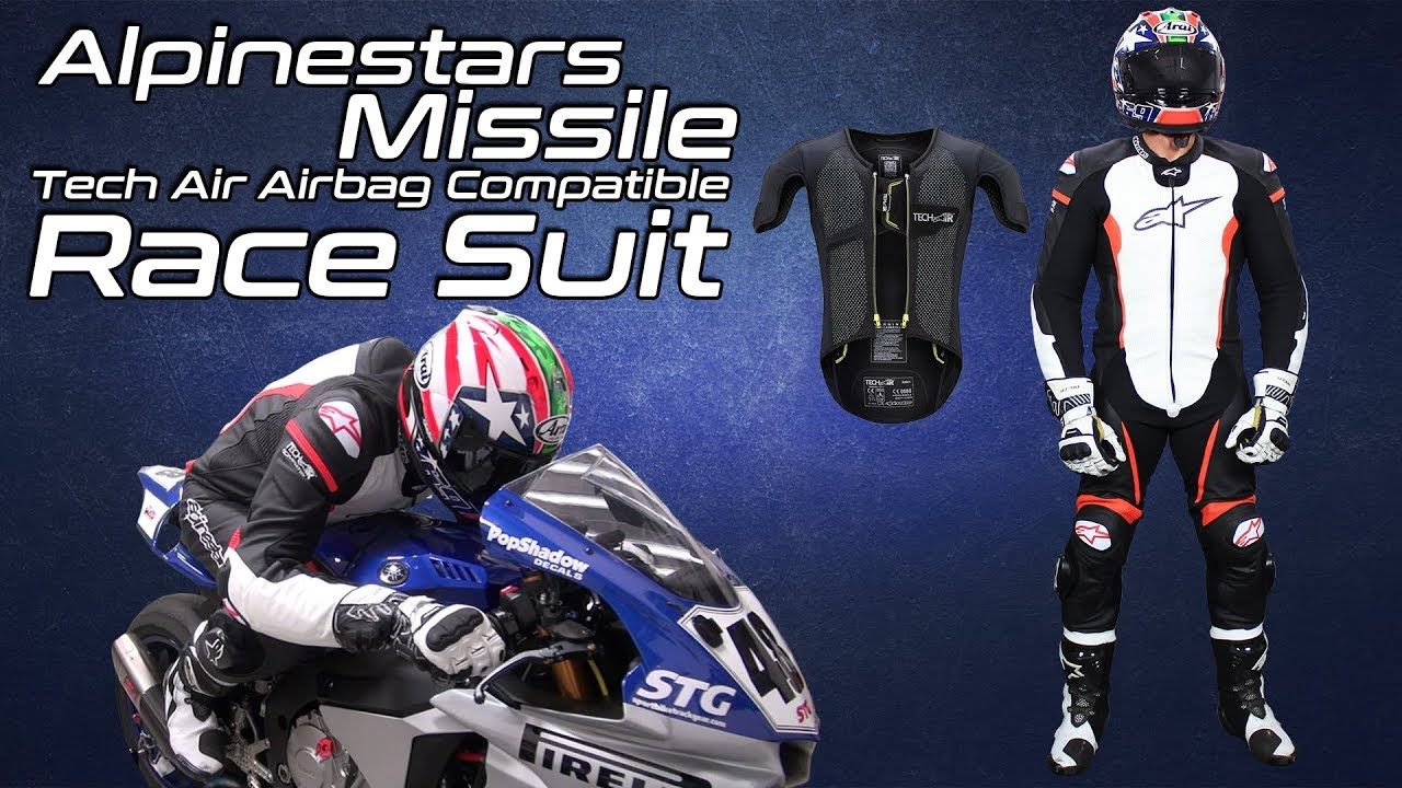 Alpinestars Missile Leather Race Suit Tech-Air Race Compatible