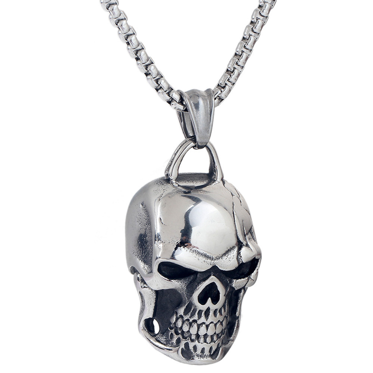 wholesale men stainless fashion jewelry necklaces necklace in skull from cool item pendant steel
