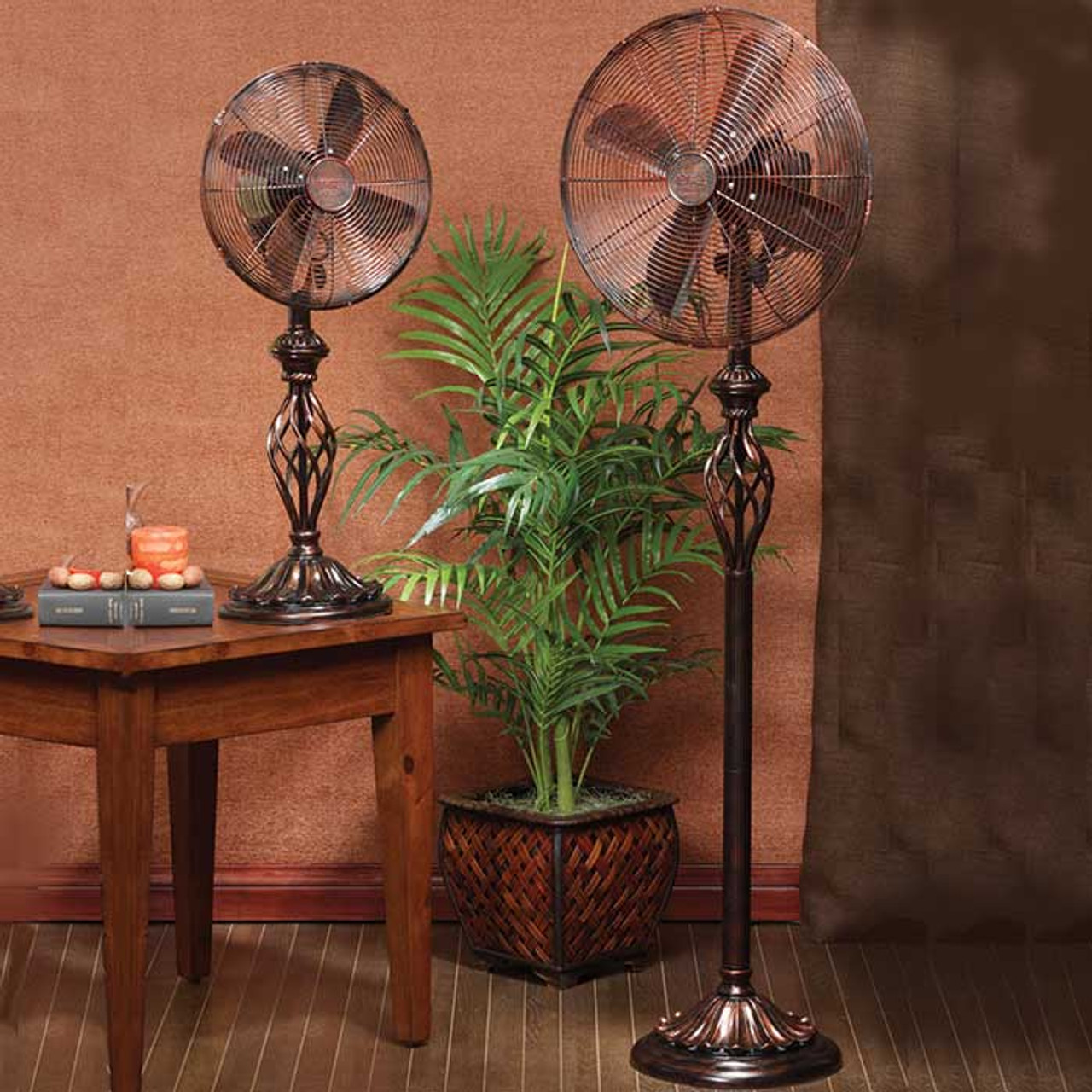Floor And Desk Fans : Vintage swirl floor or table fan magnolia hall
