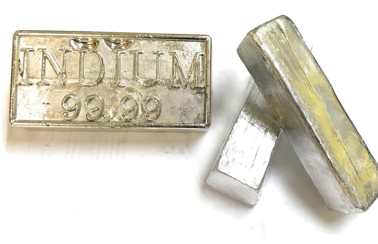 Indium 99.99% Pure 1 KG Ingot - RotoMetals