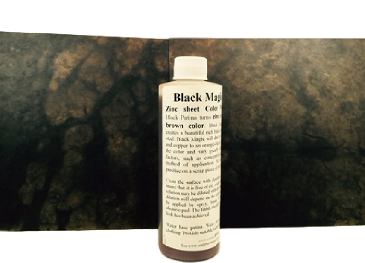 Patina Black Magic Solution Leathery Brown On Zinc