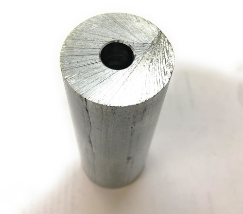 "Zinc Rod Anode, 1-1/2"" diameter x 4"" long with Center Hole at 7/16"""