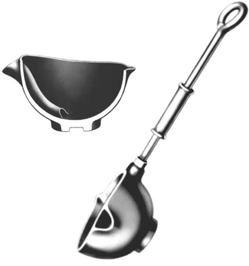 "Casting Ladle Bottom-pour Rowell #5 - 5"" Bowl Diameter, 24"" Handle Length"