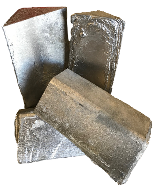 Recycled Melted Bullet Alloy ~ 55  lbs  (4 pcs) Ingots with Freight Included